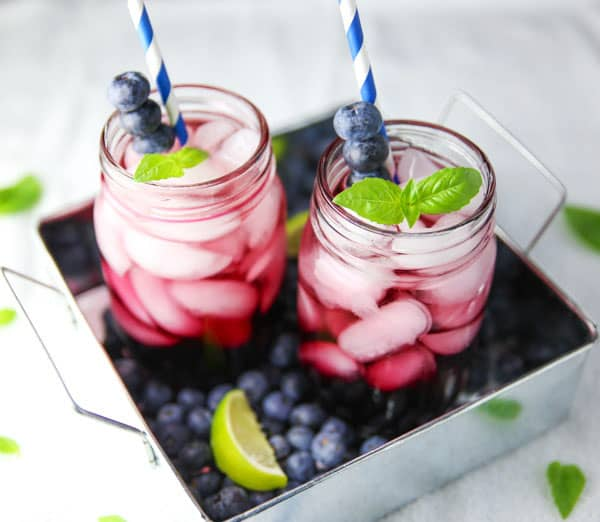 These Blueberry Basil Margaritas are so delicious and refreshing! This will be your new favorite cocktail!