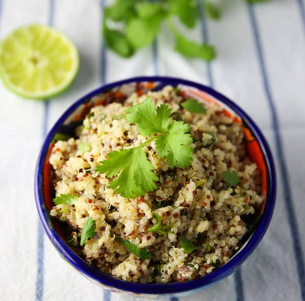 This Cilantro Lime Quinoa only requires 3 simple ingredients and goes perfectly with any Mexican meal!