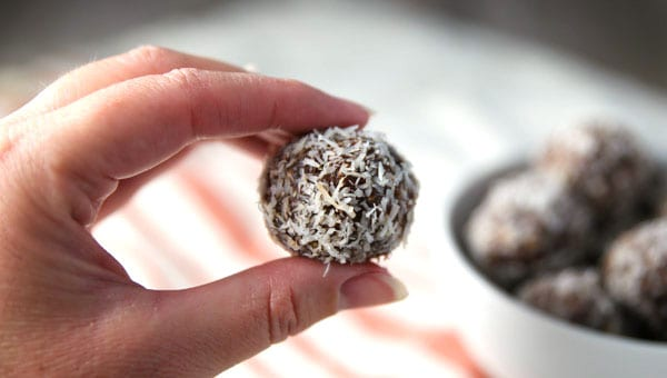 These Coconut Cashew Date Balls are so easy to make, no baking required! Simple wholesome ingredients, they're Raw, Vegan, and Gluten Free!