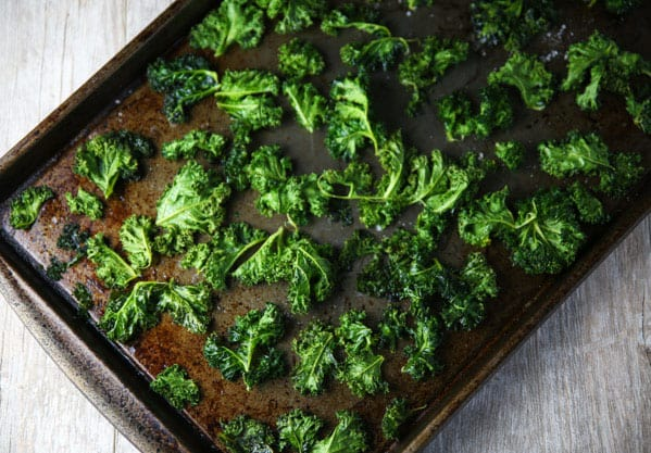 These Coconut Oil Kale Chips are super easy to make and are way better than any store bought kind!