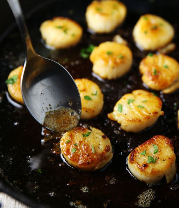 These Easy Brown Butter Scallops are so luscious, tender, and literally melt right in your mouth!