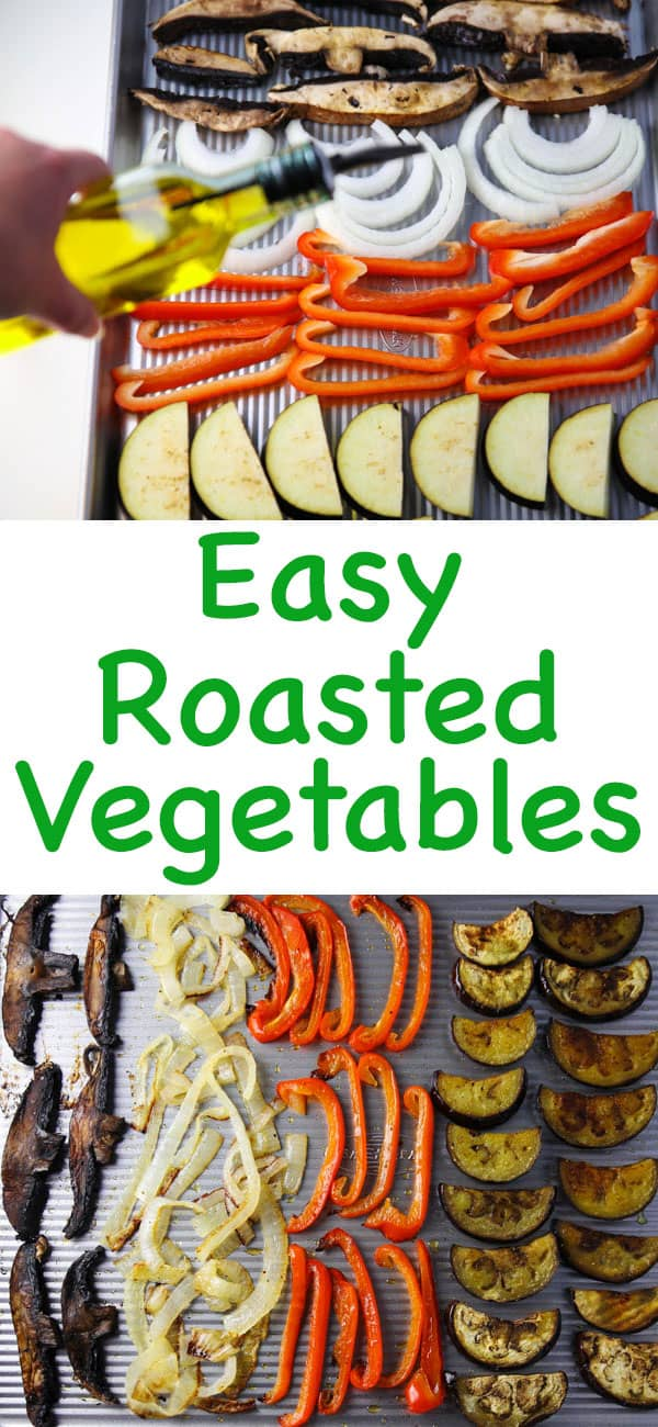 Easy Roasted Vegetables for any time of the year! Eat as is, top your favorite pizza, or use on top of rice bowls!