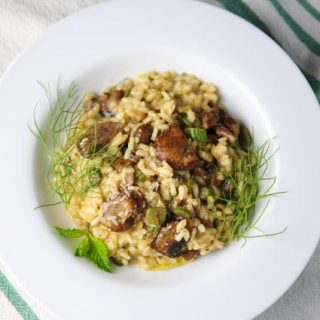 Fennel Mushrooms Lemon and Mint Risotto