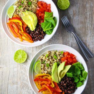 Quinoa Fajita Bowls