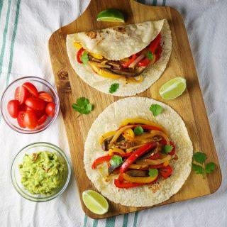 Veggie Fajita Tacos
