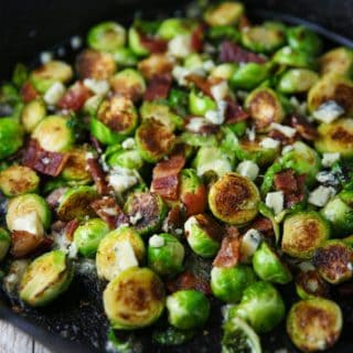 Brussels Sprouts with Bacon and Gorgonzola
