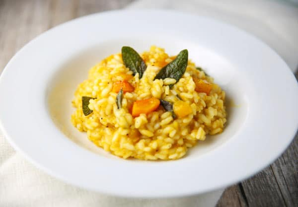 This Butternut Squash and Sage Risotto is the perfect dish for fall! It's super easy to make, so savory, and so comforting!