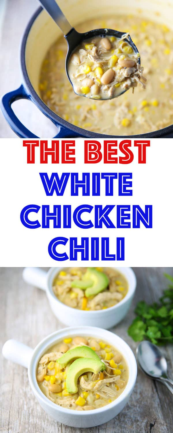 You guys... This is SERIOSLY The Best White Chicken Chili EVER! Once you start eating it, you just can't stop!