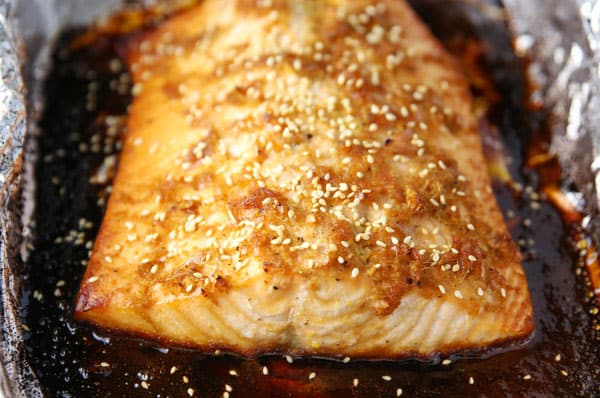 This Asian Baked Salmon in Foil is so tender, flaky, and incredibly savory!