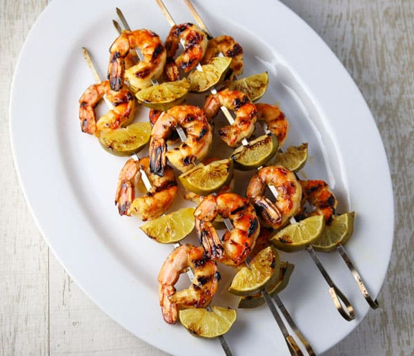These Grilled Honey Lime Shrimp Skewers are super easy to make and loaded with flavor! This will be your new favorite way to eat Shrimp!