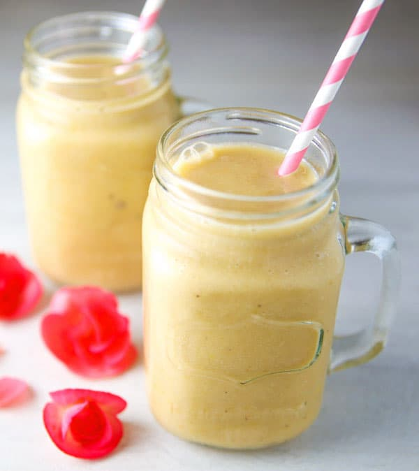 This Papaya Tropical Smoothie has fresh, natural, healthy ingredients and is dairy free!