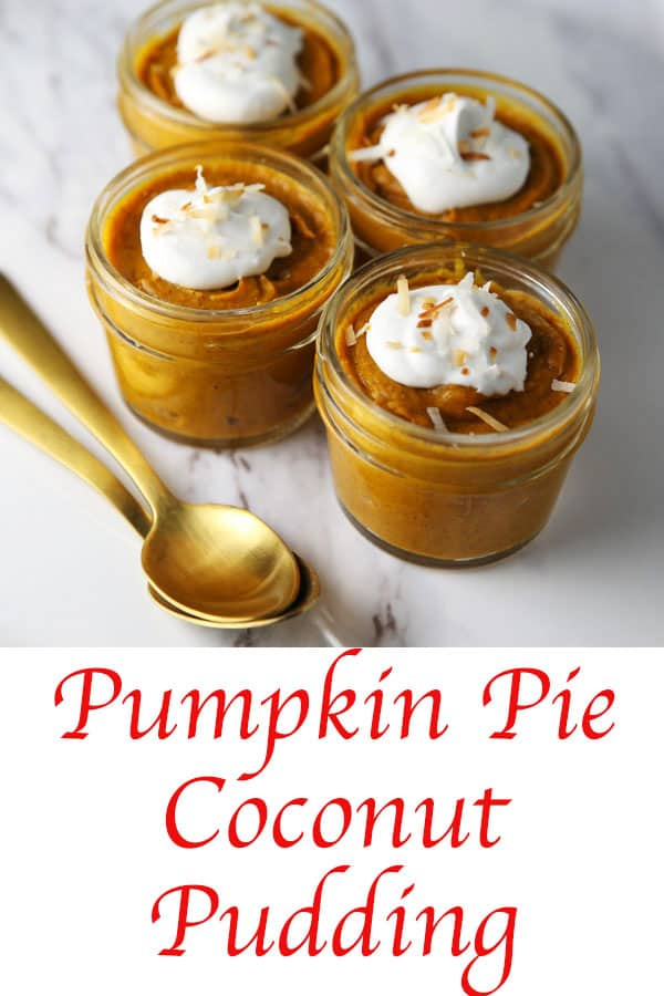 This Pumpkin Pie Coconut Pudding is so creamy, dreamy, and savory. It's sure to be your new favorite Fall dessert! #dairyfree #glutenfree #vegetarian #dessert #recipe #desserts #Thanksgiving