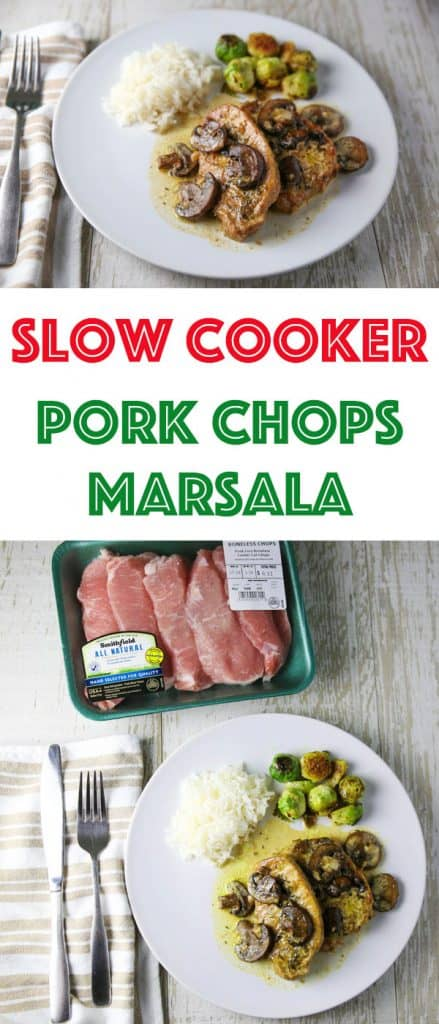 ad - These Slow Cooker Pork Chops are so tender, juicy, and savory! This will be your new favorite weeknight meal! @walmart @SmithfieldBrand