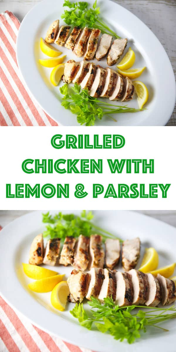 Grilled Chicken with Lemon and Parsley