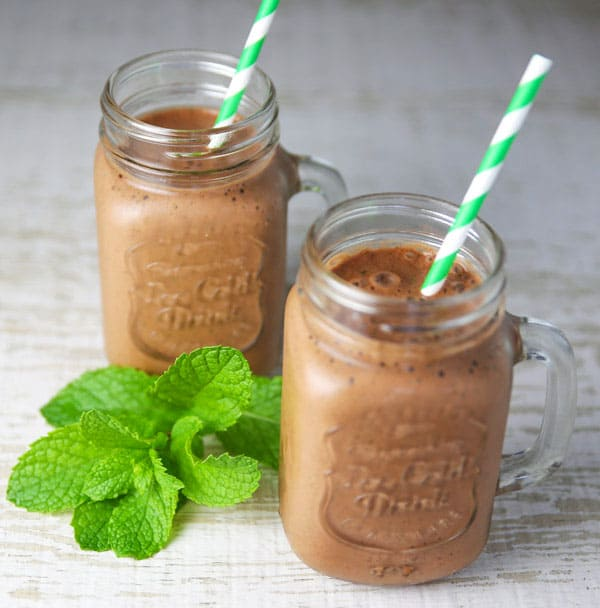 Healthy Chocolate Mint Smoothie