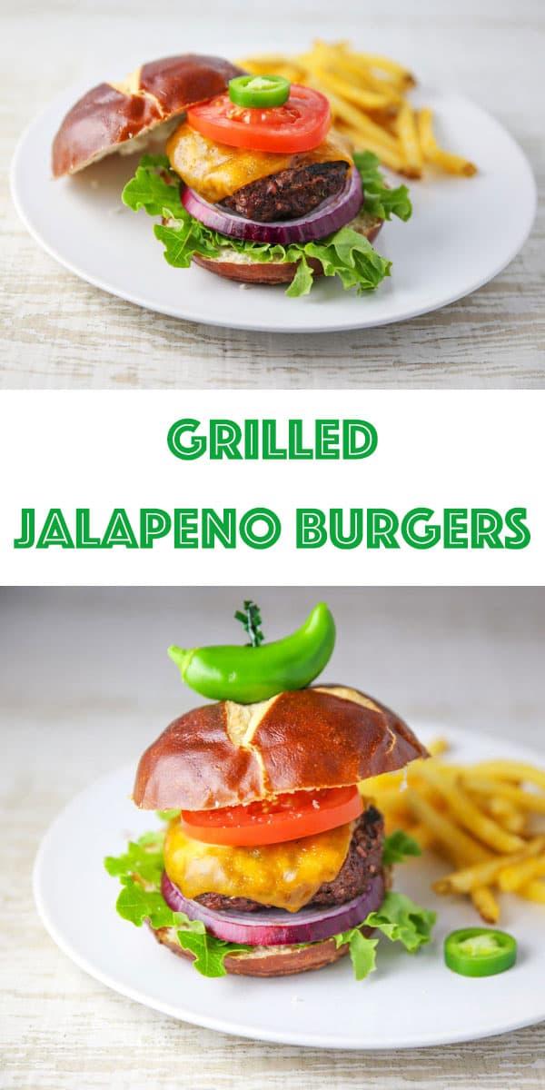 Grilled Jalapeño Burgers