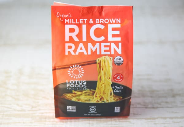 Package of Lotus Foods gluten free Ramen
