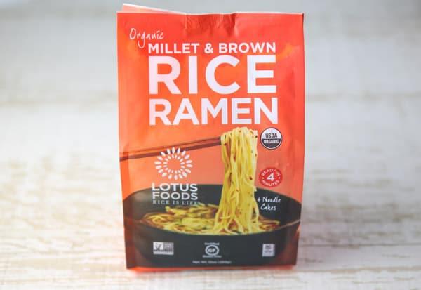 Package of Lotus Foods gluten free Ramen