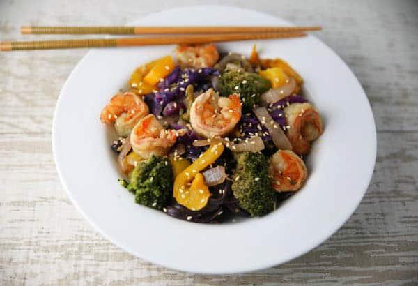 Shrimp Stir Fry in a bowl