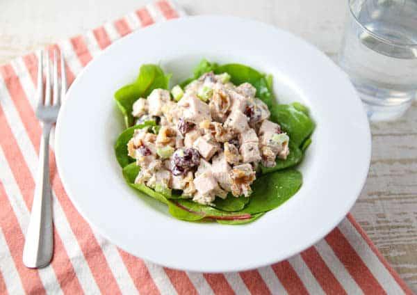 Cranberry Walnut Turkey Salad