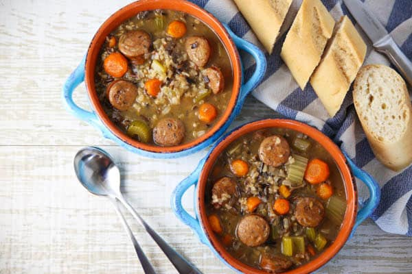 Italian Sausage and Wild Rice Soup