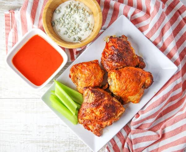 Air Fryer Buffalo Chicken Thighs