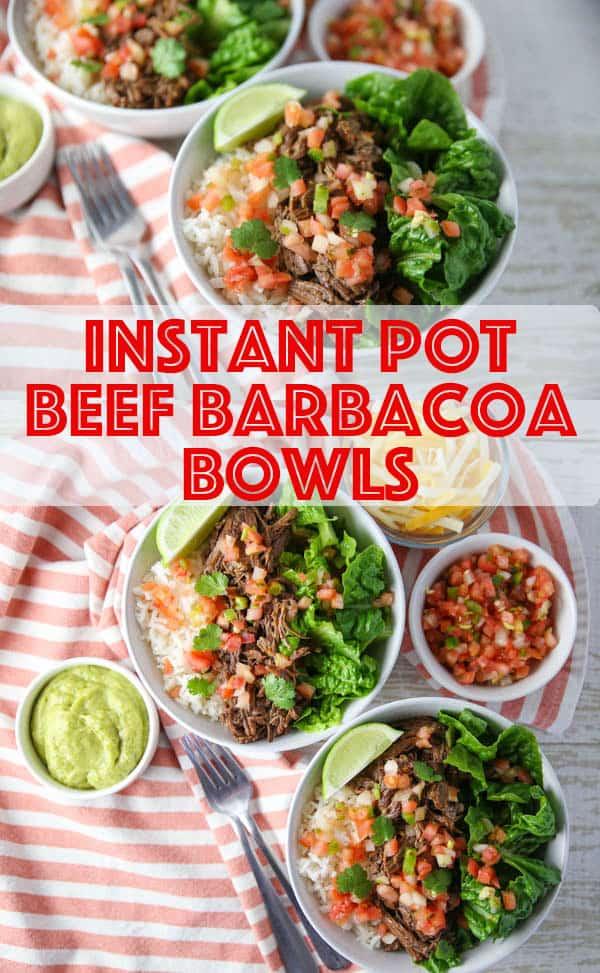 Instant Pot Beef Barbacoa Bowls