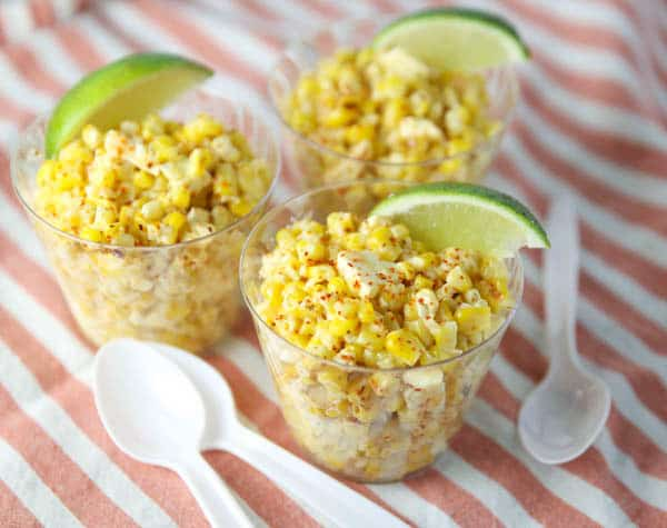 Mexican Street Corn in cups