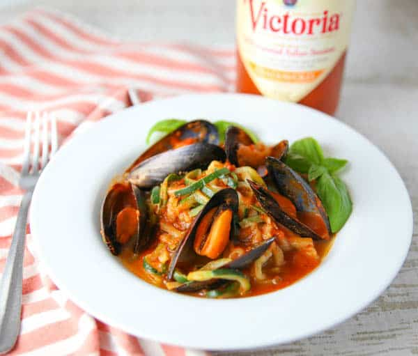 Mussels Fra Diavolo with Zucchini Noodles