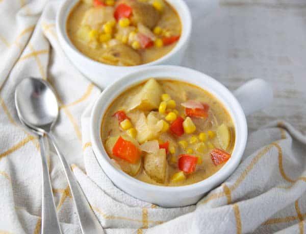 Potato Corn Chowder in a bowl