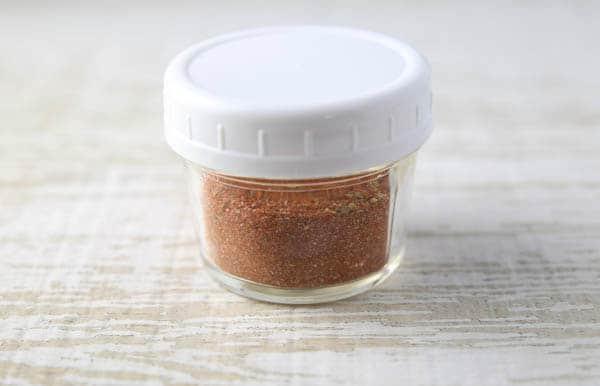Homemade Blackened Seasoning in a sealed jar