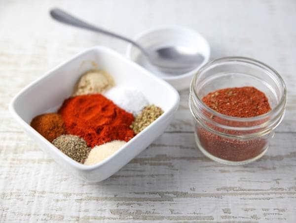 Homemade Blackened Seasoning ingredients