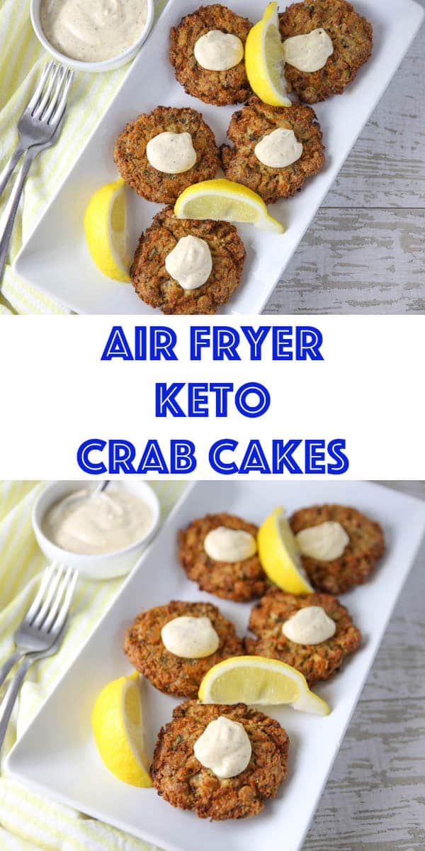 Air Fryer Keto Crab Cakes