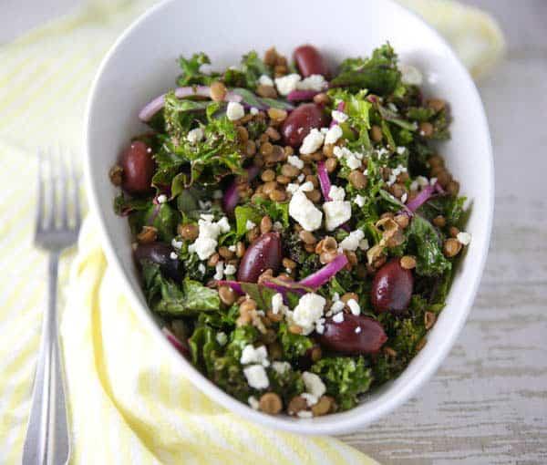 Mediterranean Lentil and Kale Salad