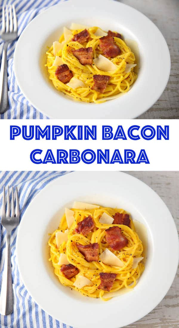Pumpkin Bacon Carbonara