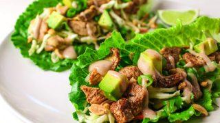 Caribbean Jerk Chicken Lettuce Wraps Tastefulventure