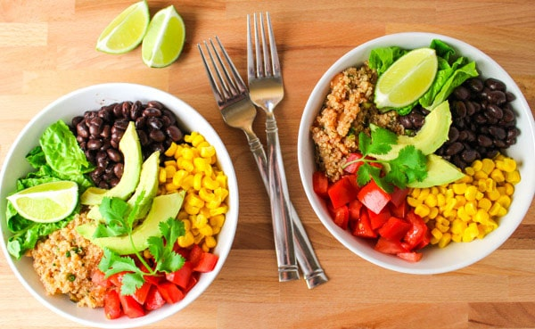 These Quinoa Burrito Bowls can be made in 15 Minutes and are Vegan and ...