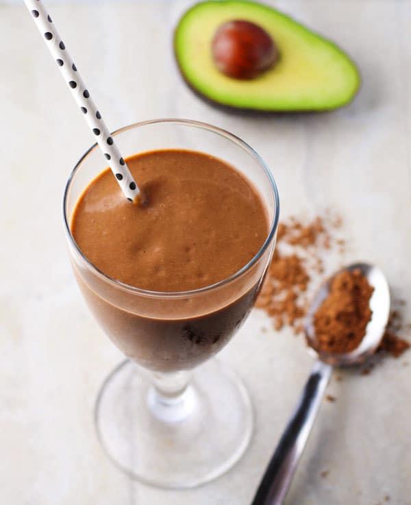 Healthy Chocolate Avocado Smoothie