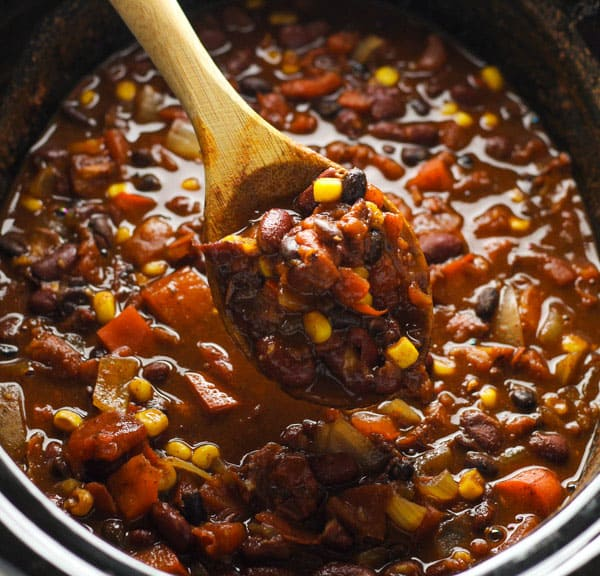 Slow Cooker Skinny Vegetarian Chili Tastefulventure
