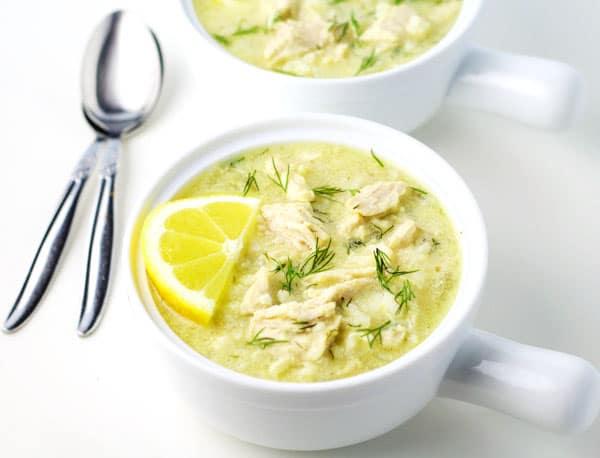 Greek Lemon Rice And Chicken Soup Tastefulventure